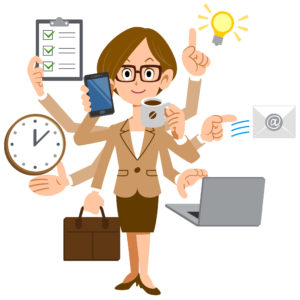 Informaticienne au travail